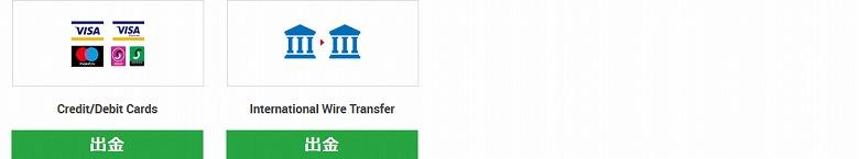 「International Wire Transfer」をクリック