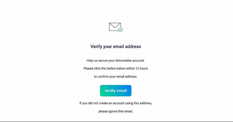 メール内の「Verify email」ボタンをクリック